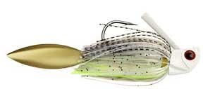 WARBLADE™ | THEY BITE THE BLADE, THEY GET THE HOOK. The WARBLADE™ is a Limited Edition item available in 6 sizes. Fish this bait like a Swimjig or a Spinnerbait. The blade trails behind the hook giving off flash and vibration.